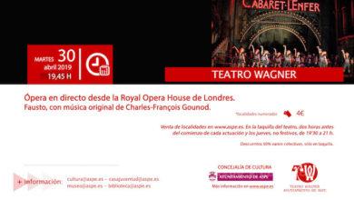 Photo of #Aspe: El Wagner acoge una nueva sesión de ópera desde Londres
