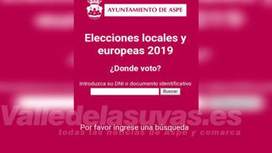 Photo of #Aspe: ¿Quieres saber dónde votas este domingo?