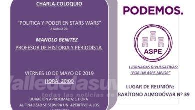 """Photo of #Aspe: El profesor Manuel Benítez ofrece una charla sobre """"Política y poder en Star Wars"""""""