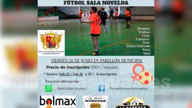 Photo of #Novelda: El Pabellón Municipal acogerá el IV Torneo Femenino de Fútbol Sala