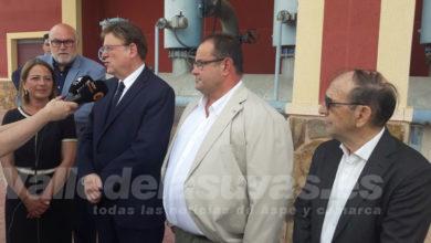 """Photo of #Aspe: Ximo Puig: """"Queremos una solución definitiva al problema del agua para los regantes del Vinalopó"""""""