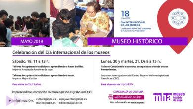 Photo of #Aspe: El Museo Histórico celebra el Día de los Museos recuperando oficios tradicionales