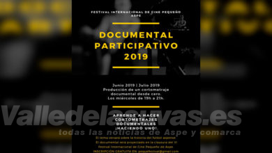 Photo of #Aspe: Últimas plazas para el Documental Participativo del Festival de Cine Pequeño