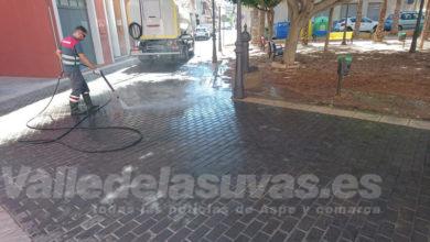 Photo of #Aspe: Servicios refuerza la limpieza durante las Fiestas Patronales