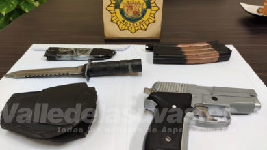 Photo of #Novelda: Incautan una pistola simulada y un machete de grandes dimensiones
