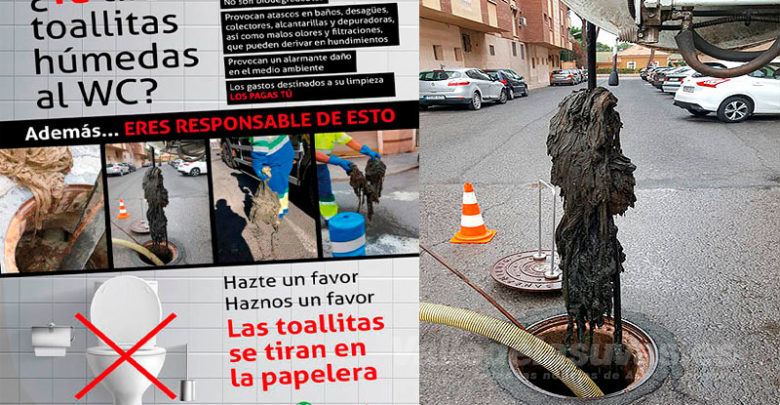 Photo of #Novelda: Campaña contra el vertido de toallitas al alcantarillado