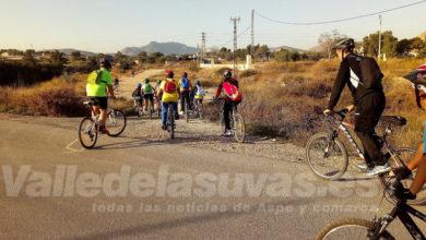 Photo of #Aspe: Las Escuelas Deportivas marchan en bicicleta al Puente de los Cinco Ojos