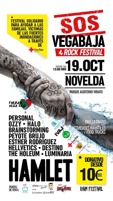 Cartel SOS Vega Baja Rock Festival