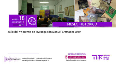 Photo of #Aspe: 3.700 euros en premios para el certamen de investigación Manuel Cremades