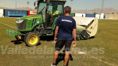 Photo of #Aspe: Deportes resiembra el campo de fútbol de Las Fuentes