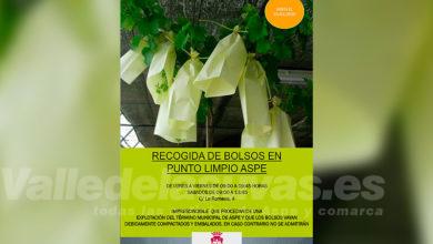 Photo of #Aspe: Trasladan al Punto Limpio la recogida de los bolsos de la uva