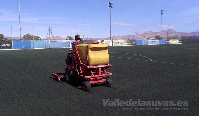Arreglos en los campos de fútbol