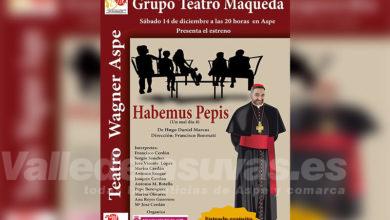 """Photo of #Aspe: El Grupo de Teatro Maqueda ofrece """"Habemus Pepis"""""""