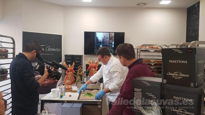 Grabación en la pastelería