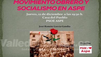 """Photo of #Aspe: La sede del PSOE acoge una conferencia sobre """"Movimiento obrero y socialismo en Aspe"""""""