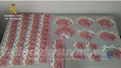 Photo of #Sax: La Guardia Civil interviene 1.680 euros  falsos en billetes de 10