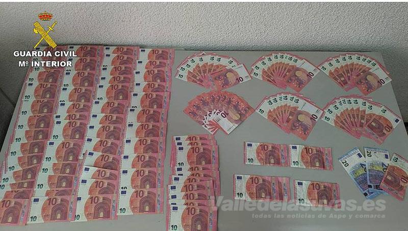 Billetes falsos Sax