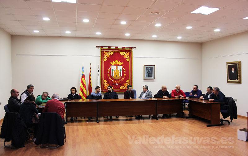 Reunión alcaldes comarca uva