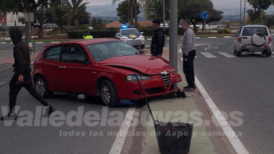Photo of #Aspe: Accidente de tráfico en la avenida Juan Carlos I