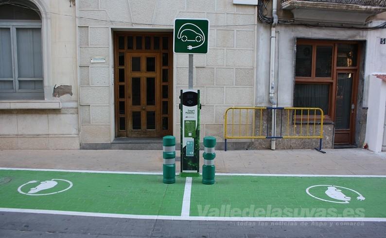Estación recarga vehículos eléctricos