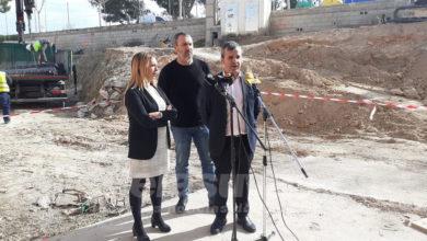 Photo of #Aspe: Sustituyen la rampa y la escalera de acceso al Pabellón Deportivo