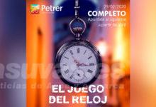 """Photo of #Petrer: """"El juego del reloj"""" completa su cupo de inscripciones para la sesión de estreno"""