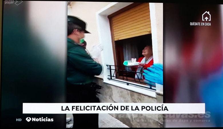 Photo of #Aspe: Antena 3 se hace eco de la felicitación a una vecina de 90 años