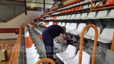 Photo of #Aspe: Renuevan las gradas del Pabellón Deportivo municipal