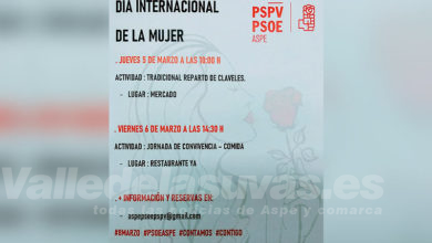 Photo of #Aspe: El PSOE celebra el Día Internacional de la Mujer