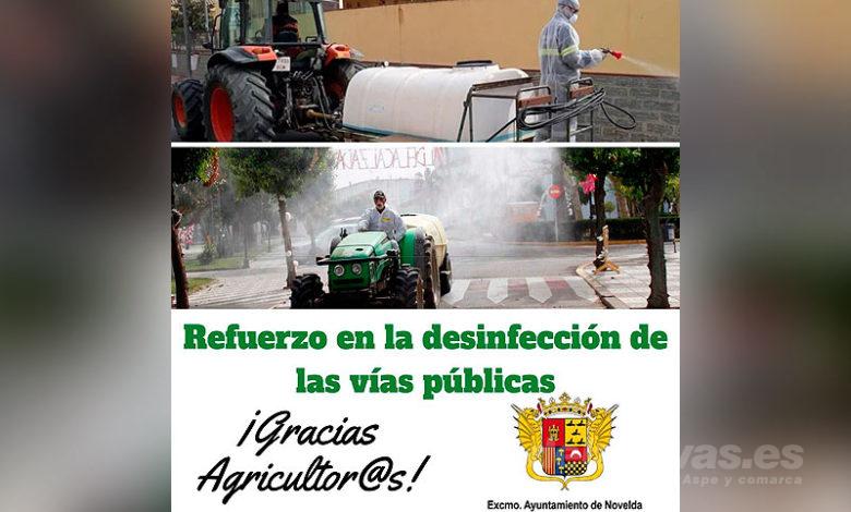 Photo of #Novelda: Agricultores locales colaborarán en las tareas de desinfección de las vías pública