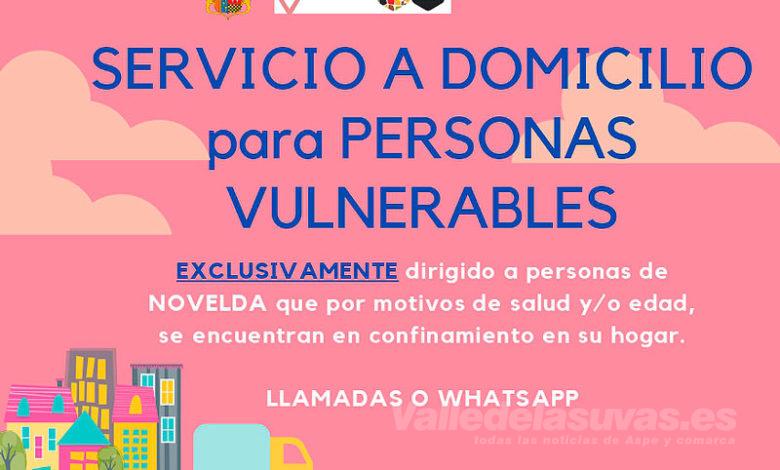 Photo of #Novelda: Ponen en marcha un servicio a domicilio para personas en situación de vulnerabilidad