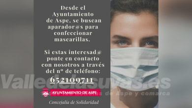 Photo of #Aspe: Desbordante respuesta a la petición de coser mascarillas
