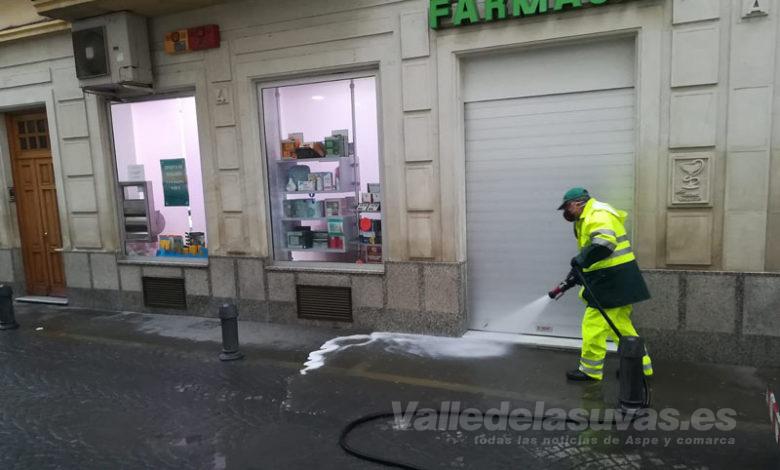 Photo of #Novelda: El servicio de limpieza desinfecta calles y contenedores