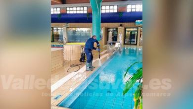 Photo of #Aspe: Desinfectan la piscina cubierta Tomás Martínez Urios