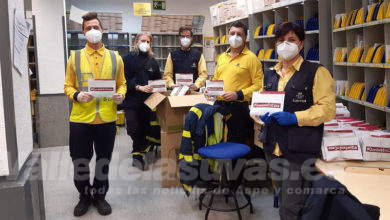 Photo of #Aspe: Correos colabora con el Ayuntamiento para repartir 7.000 envíos con mascarillas