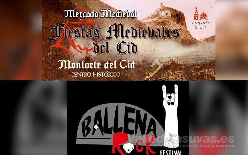 Fiestas Medievales y Ballena Rock