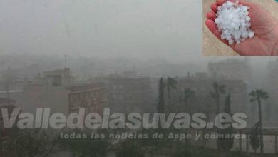 Photo of #Aspe: Gran tromba de lluvia y granizo en Aspe