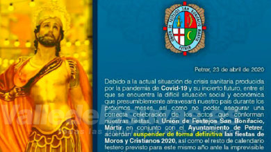 Photo of #Petrer suspende definitivamente las Fiestas de Moros y Cristianos