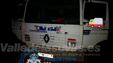 Photo of #Aspe: Utilizan un camión robado en Aspe para intentar sustraer un cajero en Orihuela