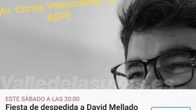 Photo of #Aspe en Común organiza una fiesta de despedida a David Mellado