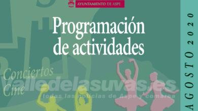 Photo of #Aspe: Programa de actos en Aspe. Agosto 2020