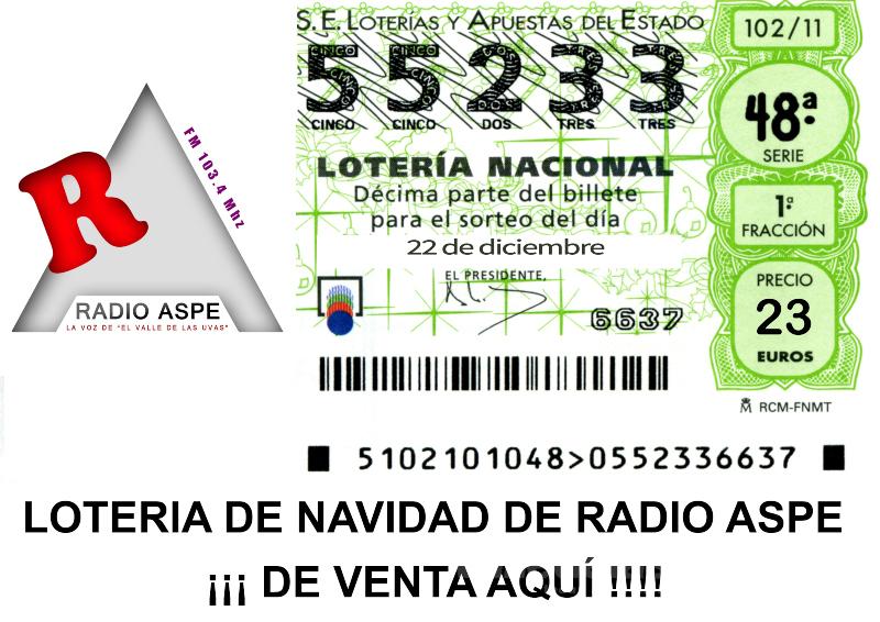 Lotería radio Aspe