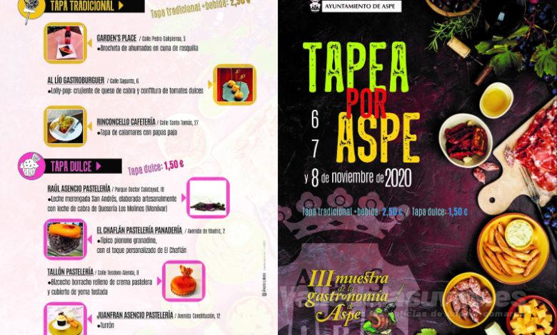 Photo of #Aspe: Del 6 al 22 de noviembre, vuelve la Muestra de la Gastronomía de Aspe