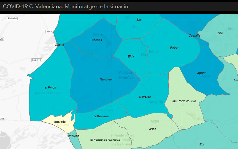 Mapa Covid Comarca